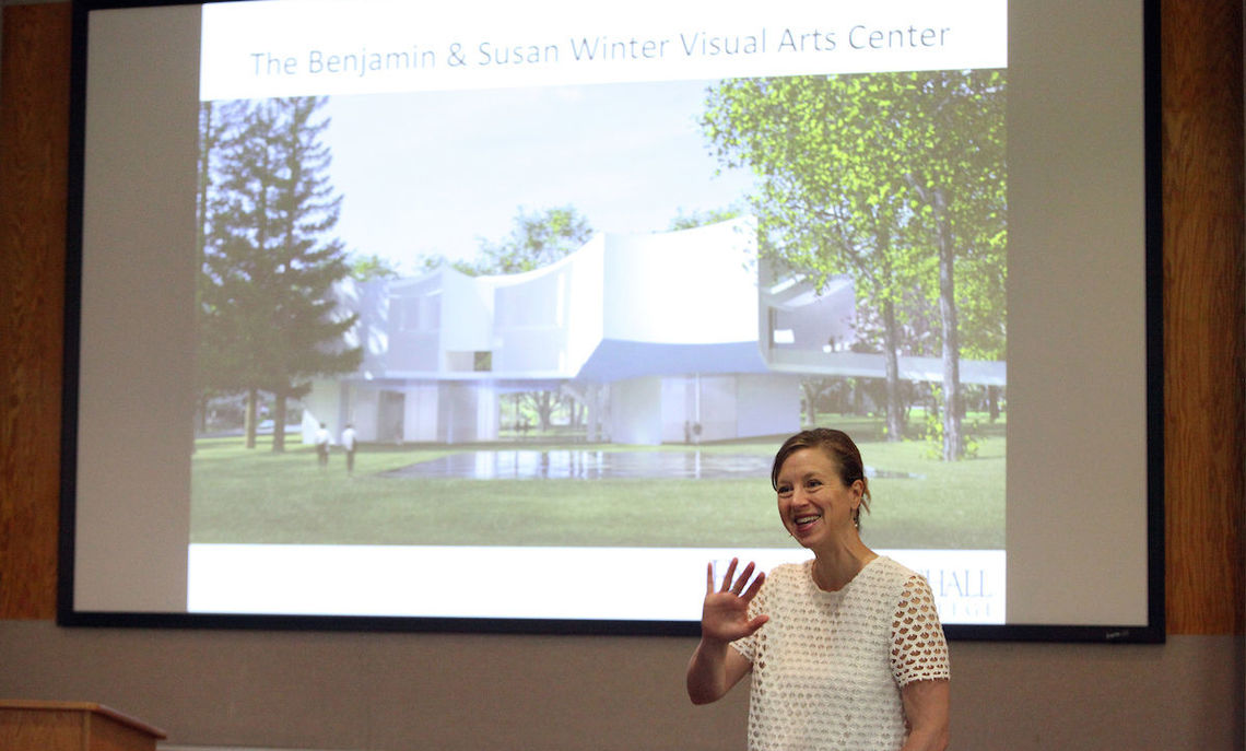 Earlier this year, Professor of Art History Amelia Rauser presented an overview of the proposed Susan & Benjamin Winter Visual Arts Center. Its revolutionary design will depart from the red brick and gothic arches that have long defined the campus.