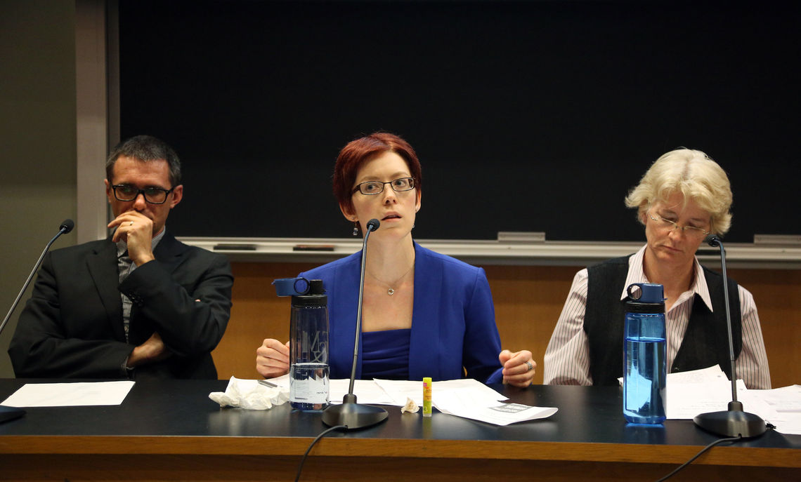 Assistant Professor of Government David Ciuk, Elspeth Wilson, instructor of government, and Associate Professor of Government Jennifer Kibbe participated on the panel.