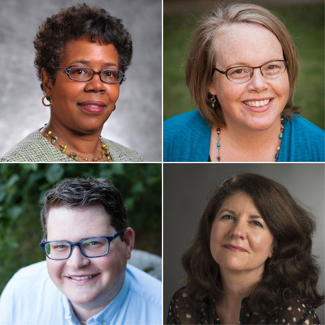 Panelists included Gretchel Hathaway, vice president for diversity, equity and inclusion, Alison Kibler, professor of American studies and women's, gender and sexuality studies, Joseph Pritchett, director for faith and meaning, and Colette Shaw, dean of students.
