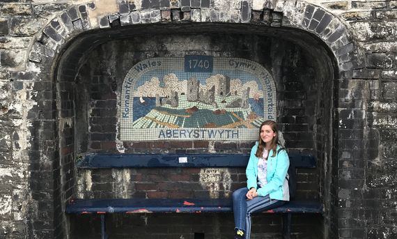 F&M sophomore Lydia Shaw studied as a Fulbright Summer Participant Aberystwyth University in Aberystwyth, Wales.