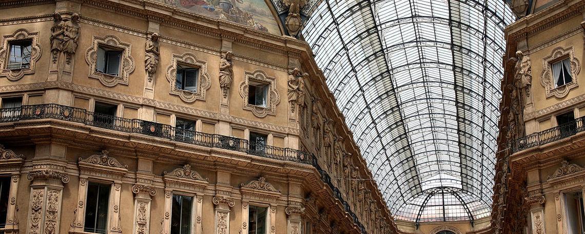 Milanese shopping galleria.