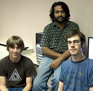 Jeff Wise '12, Janardhan Iyengar and Sam Lewis '10