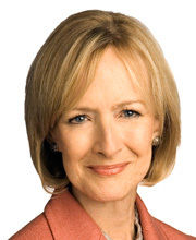 Judy Woodruff (courtesy ofThe PBS NewsHour, photo by Robert Severi)
