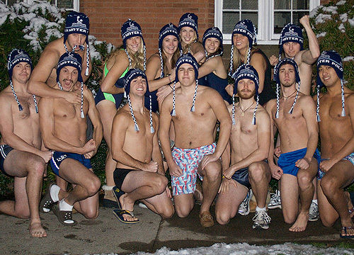 The Franklin & Marshall water polo team. (Photo by Matthew Jaffee '10)
