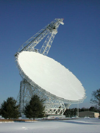 Crawford uses the Robert C. Byrd Green Bank Telescope in West Virginia, the world's largest fully steerable radio telescope, to conduct his research.