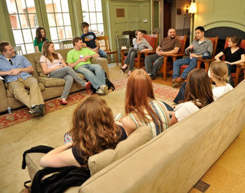 A group discussion in the Philadelphia Alumni Writers House during the 2009 Emerging Writers Festival