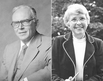 "President Keith Spalding, left, and Dorothy ""Dot"" Spalding. Images courtesy of Franklin & Marshall Archives and Special Collections."