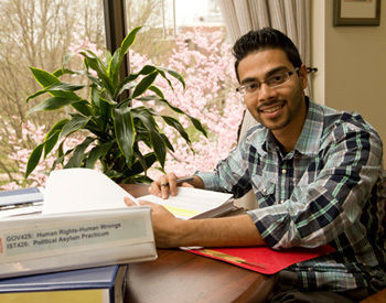 Akbar Hossain '13, a government major at Franklin & Marshall, is the College's first winner of the prestigious Harry S. Truman Scholarship. (Photo by Eric Forberger)