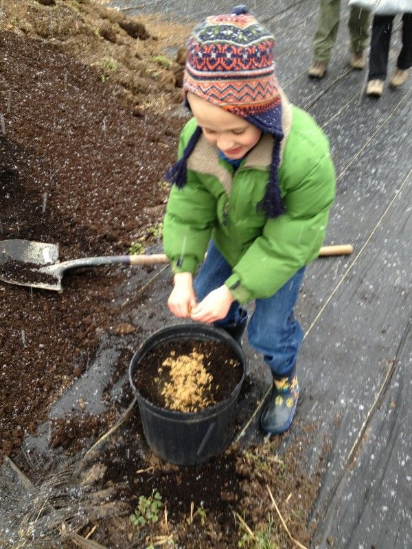 A young volunteer participates in the cleanup day effort. (Photo by Lynn Wohlsen Myers)