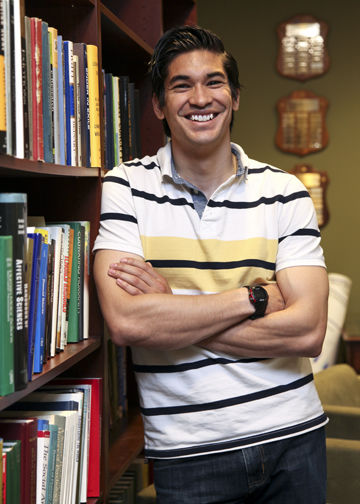 Expanding his perspectives and studying the mind has been a journey at Franklin & Marshall College for Brian Rivera '13, and one that he intends to continue for many years to come. (Photo By Melissa Hess)
