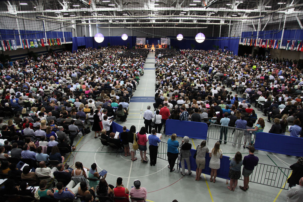 More than 4,500 students, faculty, staff and friends and family packed the Alumni Sports & Fitness Center May 11 for F&M's 2013 Commencement celebration. (Photo by Melissa Hess)