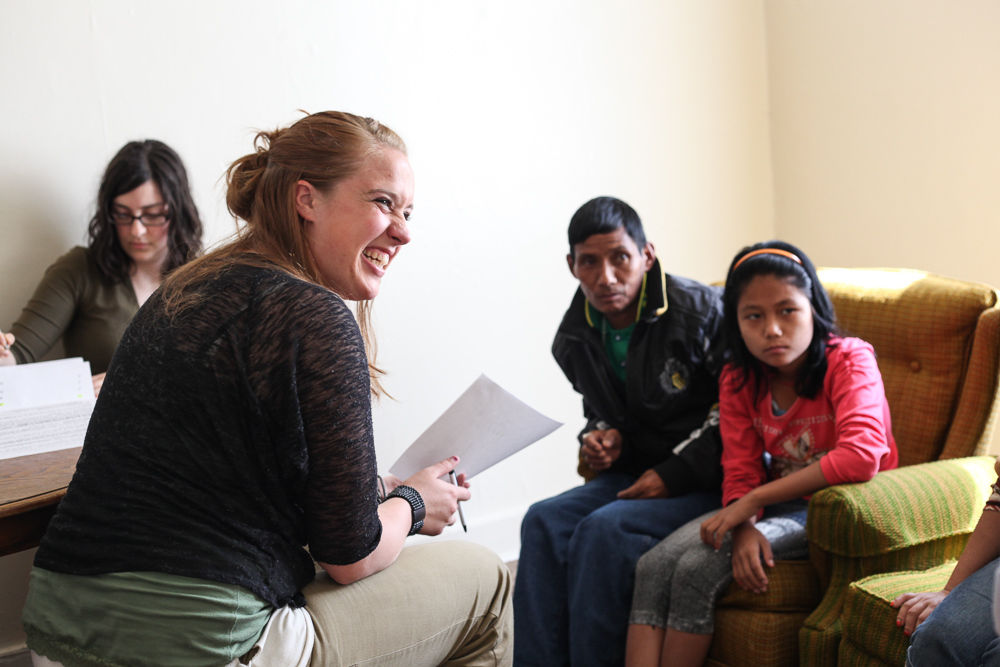 With her degree in anthropology, Tracy Hahn '13 is seeking work overseas in a refugee services program. (Photo by Melissa Hess)
