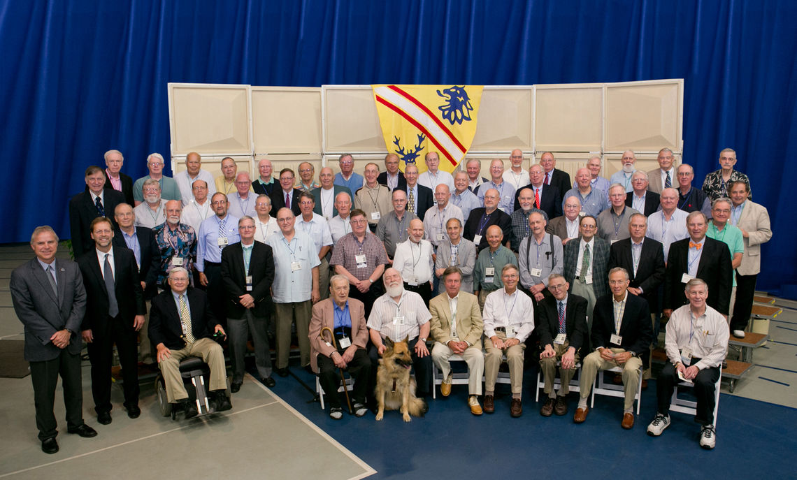 The newest members of the Nevonian Society, the Class of '63. (Photo by Nick Gould)
