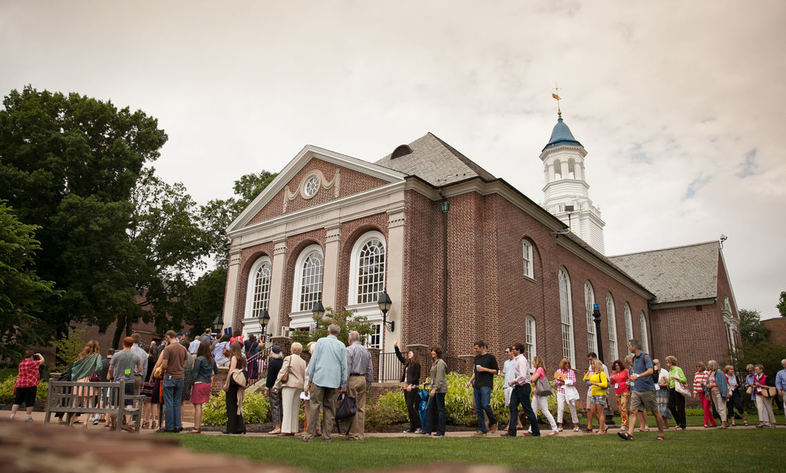 The 2013 Reunion Class Parade ended at Barshinger Center for Musical Arts in Hensel Hall for the Alumni Celebration, where Porterfield, in his address, noted the 225th anniversary of F&M. (Photo by Matthew Tennison)