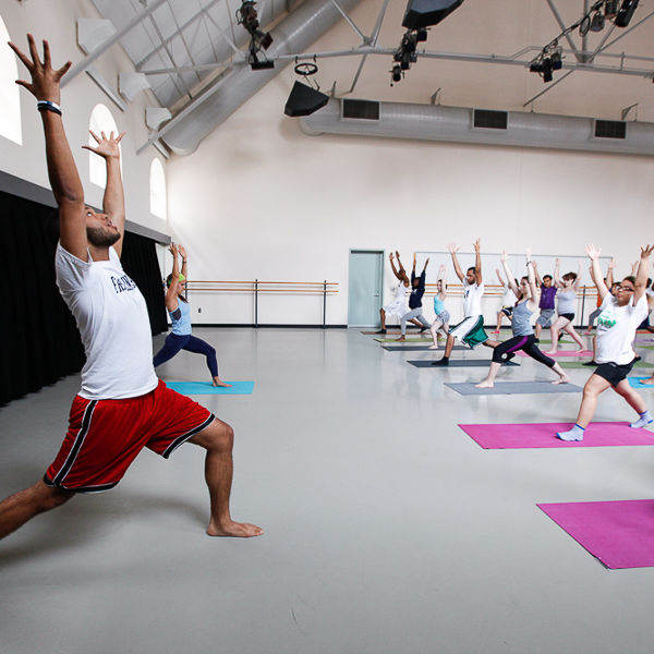 Fitness Class for the fall semester include yoga and cross training.(Photo by Melissa Hess)