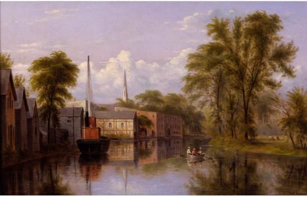 "William Rickarby Miller's ""On the Bronx River,"" painted 1887, illustrates that beginning on urban development's encroachment on nature, said Michael Kulik, director of the Public Policy Program in the Department of Earth and Environment. (Oil on canvas. Gift of Charles E. Dunlap, New-York Historical Society)"