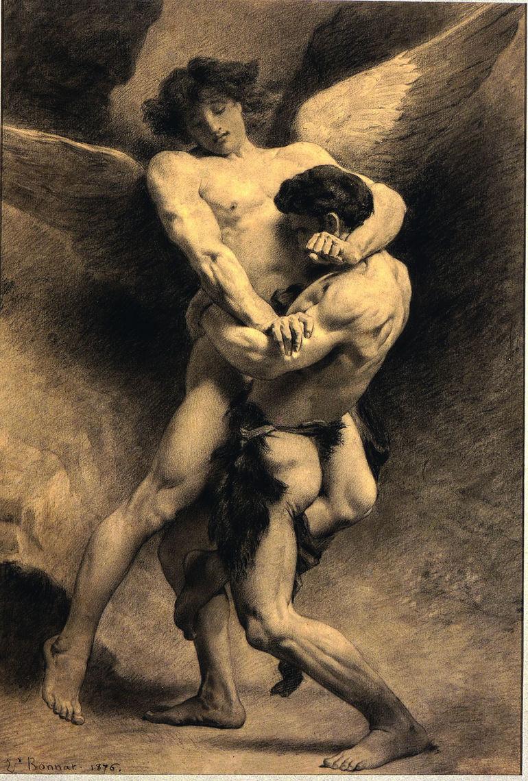 bonnat jacob wrestling the angel Angels in America