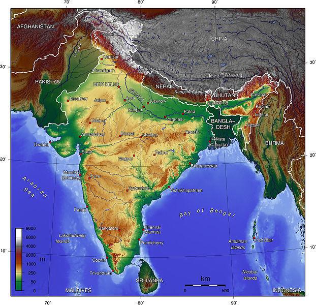 india topo map