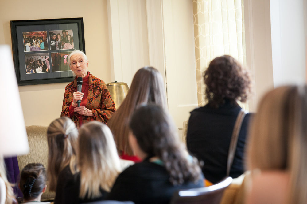 Jane Goodall Talks of Hope to F&M Audience