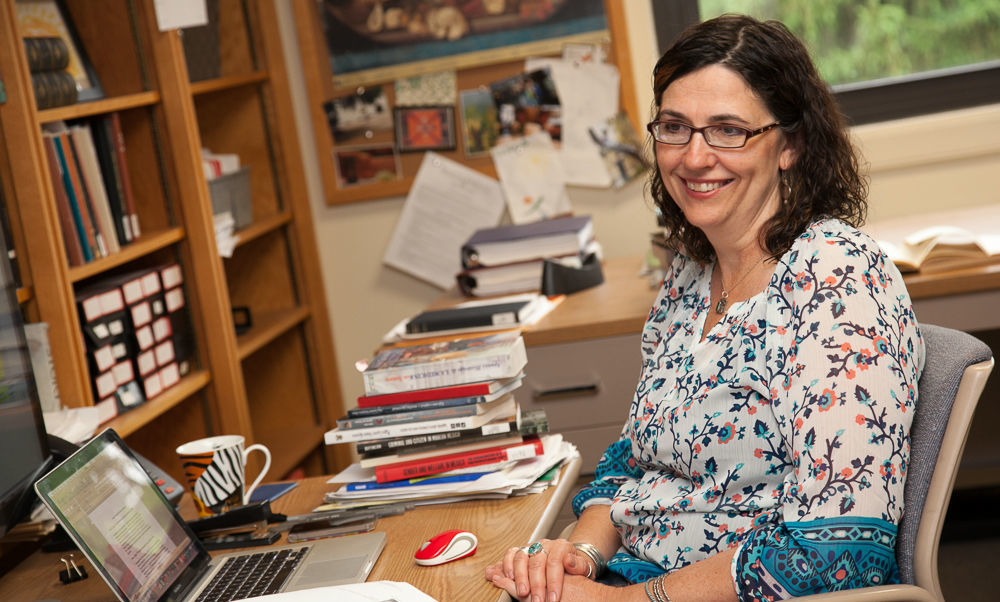 Franklin & Marshall College Assistant Professor of History Laura Shelton was among the first to examine the criminal records in Sonora, Mexico's State Judicial Archives when they were opened to the public 15 years ago. (Photo by Melissa Hess)