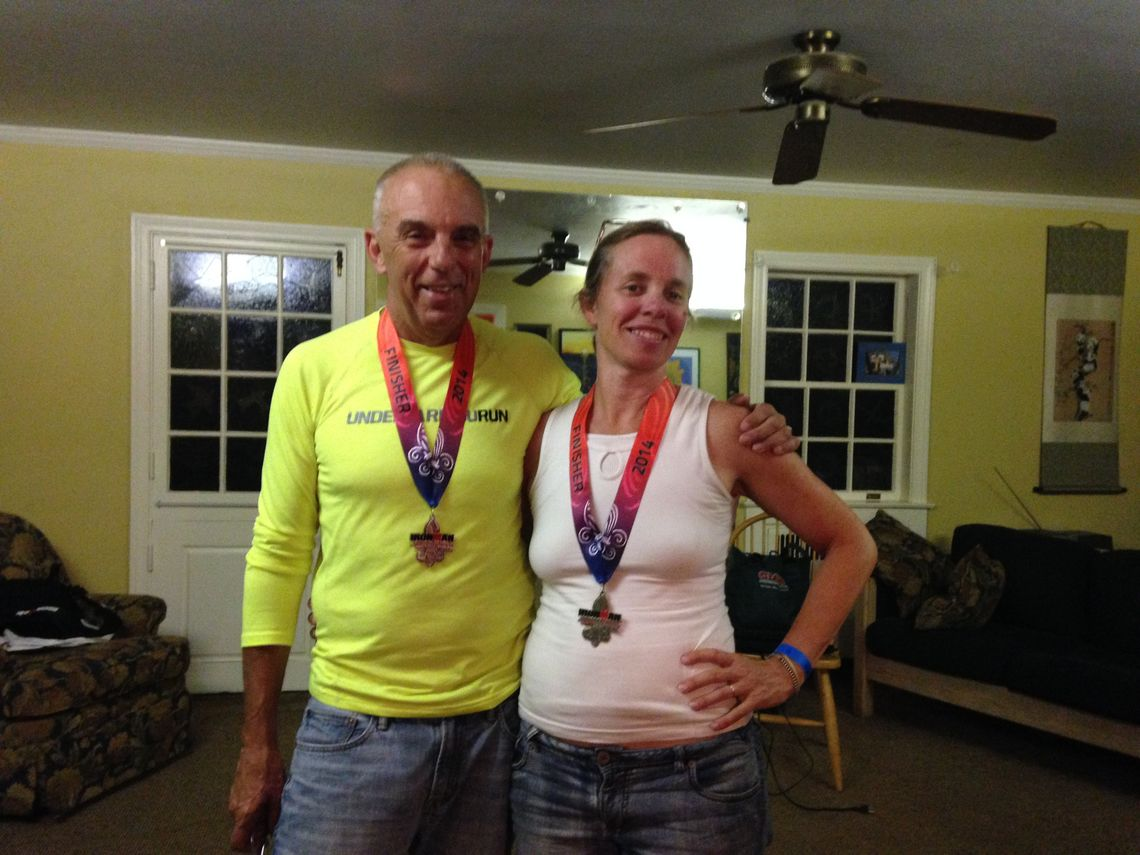 Professor of Mathematics and Chair of the Mathematics Department Annalisa Crannell participated in her first ironman triathlon in Louisville, Ky. on Aug. 24. She was joined by her husband, Neal Gussman. (Photo Submitted)