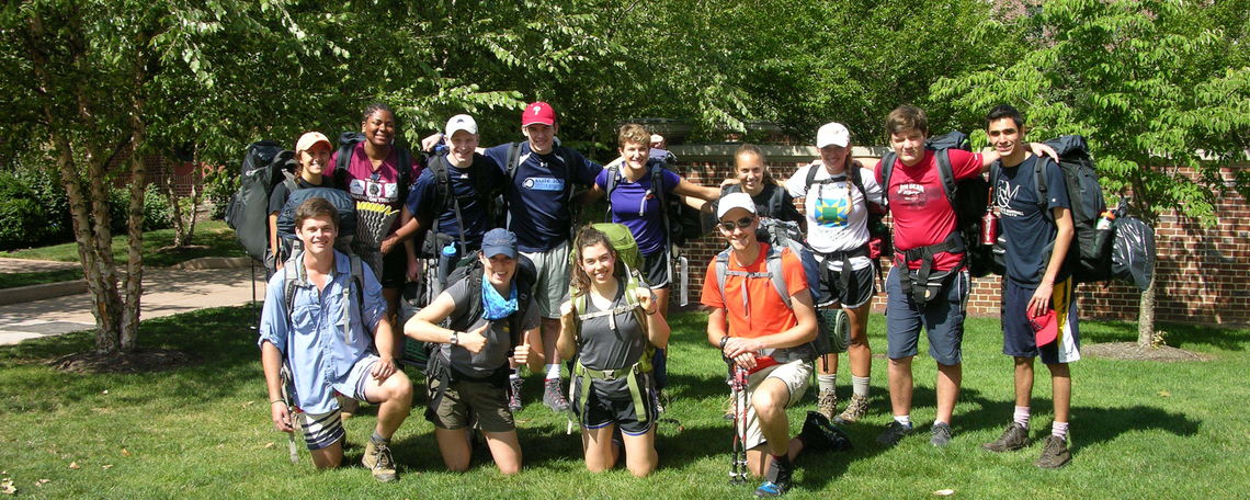 A last photo of FOOTer Group 1 before they leave Franklin & Marshall College for the Appalachian Trail. (Photo by Liana Hershey)