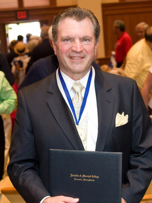 David Lehman '68 received Franklin & Marshall College's Alumni Medal in 2007. (Photo by Nick Gould)